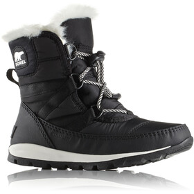 Sorel Whitney Short Lace Boots Youth Black/Sea Salt